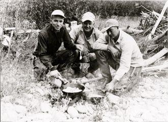 Ernie Triscik, Gilbert Alvord, and Doyle Medus 1955 WY