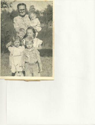 Emily Meyers & grandchildren 1955