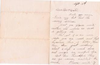 Cora Evans letter, page 2