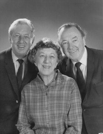 Ray Bolger, Jack Haley and Margaret Hamilton.