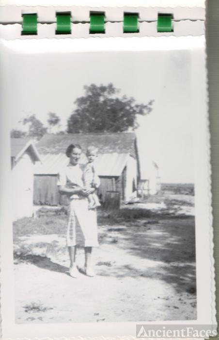 Geneva holding Carroll, her son, at Hickory, Norfolk, VA.
