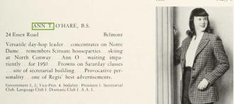 Ann Theresa O'Hara-Smith--U.S., School Yearbooks, 1900-1999 (1948 regis college-weston,ma)