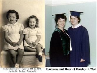 Barbara & Harriet Baisley, California 1946 & 1962