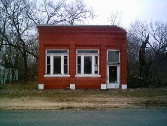 Bank building in Corbin, Kansas