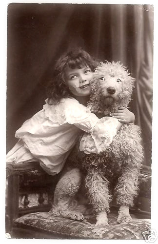 Unknown Girl and Her Dog
