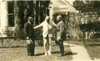 Hoover-- Pres. Harding -- Gen. Pershing at White House