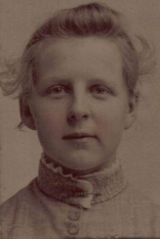 Jessie Choate, 16 years old  - July 14, 1887