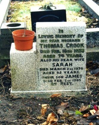 Thomas and Sarah (Hosler) Crook gravesite