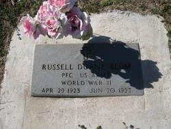 Russell Duane Blum gravesite
