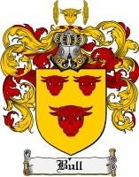 William Bull family Crest b. 1580 Hertfordshire England,  d. 1623 Manuden-Uttlesford District-Essex County, originally Hertfordshire, England