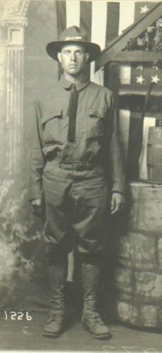 Amos Binkley, World War 1