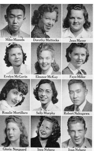 Mike Masuda and 1942 Seniors Fresno CA