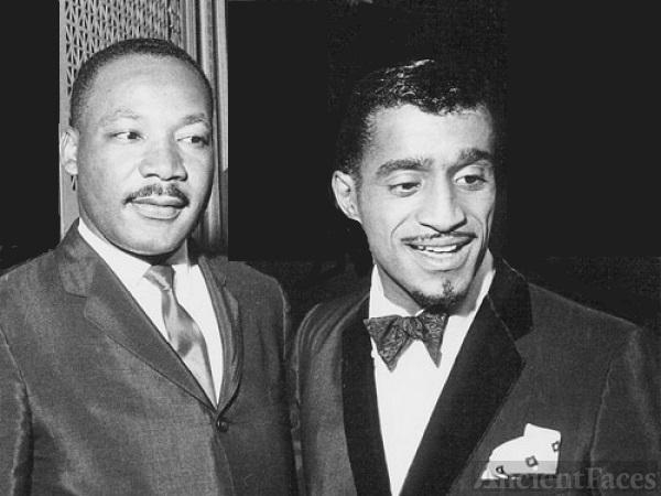 Sammy Davis Jr. and Martin Luther King.