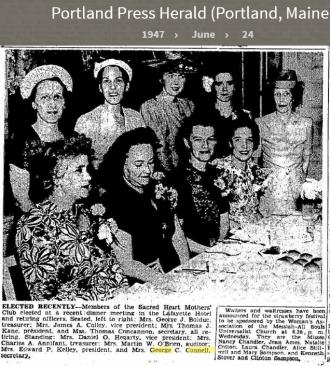 Louise Marie Hagen-Connell--Portland Press Herald (Portland, Maine) (24 june 1947)