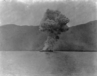 Explosion of the Vizcaya, Battle of Santiago, 1898