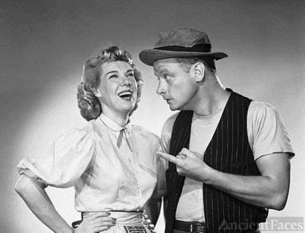 Joyce Randolph and Art Carney
