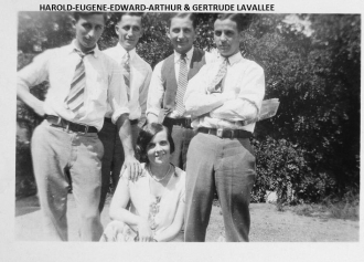 Gertrude Lavallee and her brothers