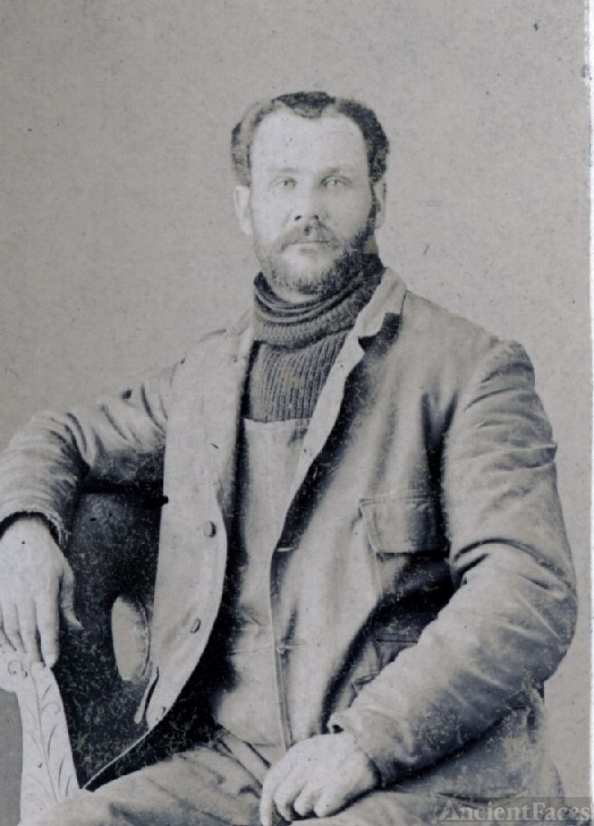 Tintype of Lincoln Ellsworth Ralya