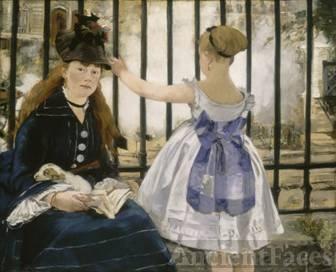Victorine Meurent in this Railway painting