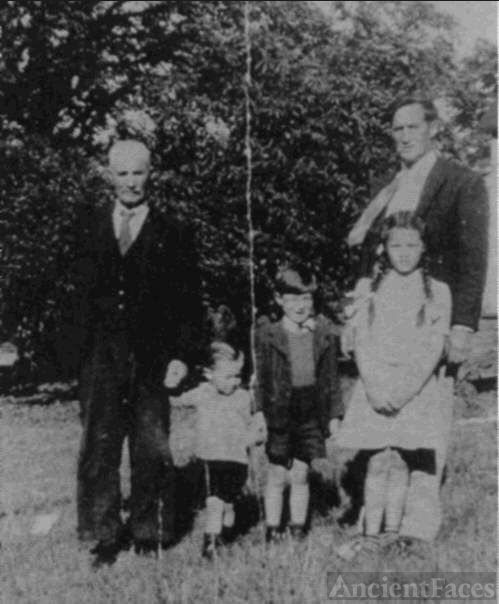 Grandfather, uncle and three cousins, 1940's