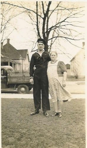 Robert C. Neal With His Paternal Grandmother