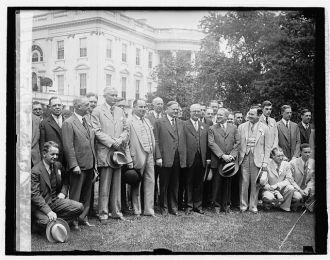 Hoover & Upsilon Fraternity, 5/16/29