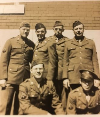 James Fisher and Army buddies