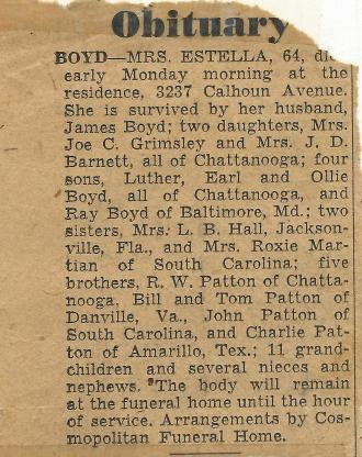 Estella Boyd Obituary