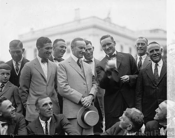 Coolidge with Wash. baseball team