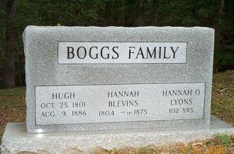 Hugh & Hannah Boggs Headstone