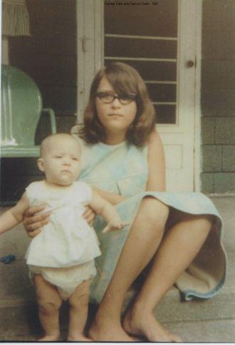 Pamela Tuttle and Aunt Frances Tuttle, 1967