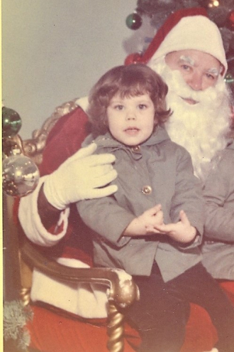 Lynn Donnette Spencer & Santa 1962