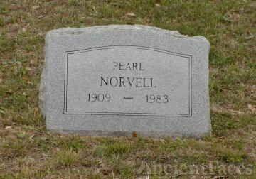 Pearl Gossett Norvell's Headstone