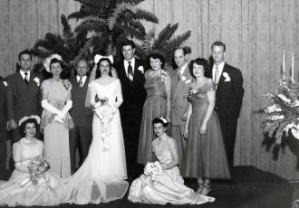 1950 Marguerite Horn and Donald Jennings Wedding