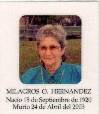 Milagros Oztolaza Hernandez, Puerto Rico, NJ