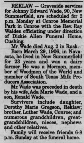 Johnny E. Wade