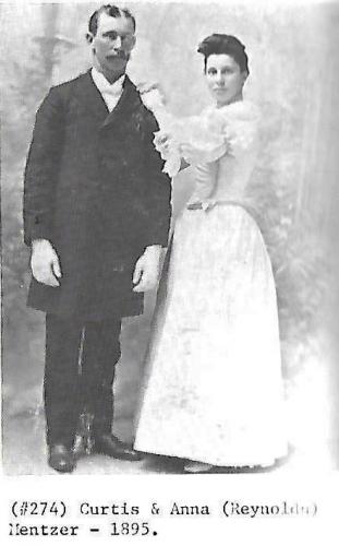 1895 Curtis and Anna (Reynolds) Mentzer - Sanger Relatives