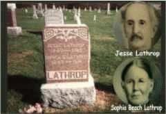 Tombstone Jesse & Sophia Lathrop