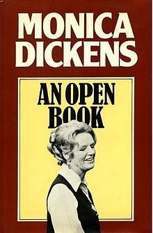 Monica Dickens on the cover of AN OPEN BOOK