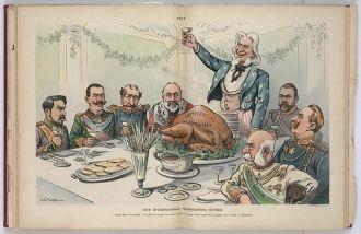 Our international thanksgiving dinner / J.S. Pughe.