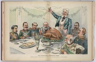 Our international thanksgiving dinner / J.S. Pughe.