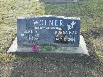 Gene David and Donna Mae (Morgan) Wolner Gravesite
