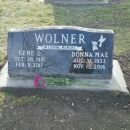 Gene David and Donna Mae (Morgan) Wolner Gravesite