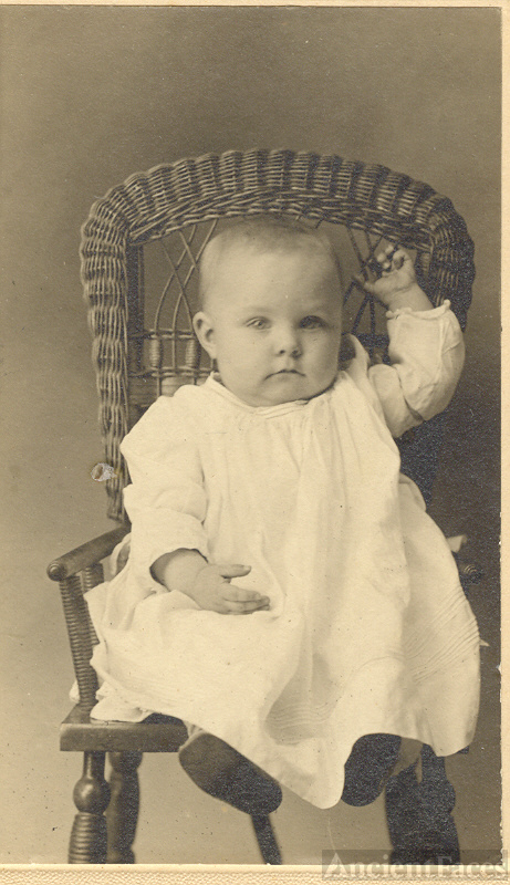 Mary Carr as a baby