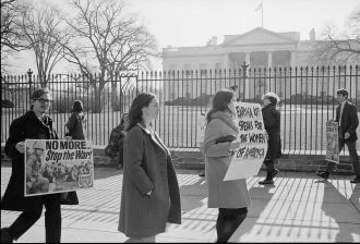 White House War Protesters Vietnam War