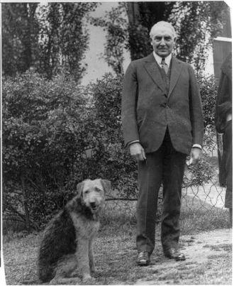 [Warren G. Harding, full length, standing, facing front;...