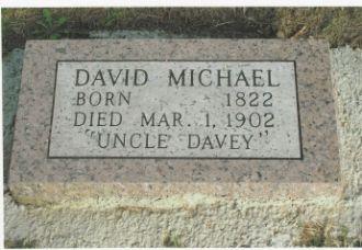Tombstone of David Michael (1822 - March 1, 1902) In Bonner Springs, Kansas