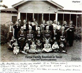 Floyd W Farrar Sr. Clan Reunion