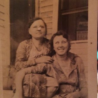 Emily(Nesetril)Coufal on the left with her sister Nesetril