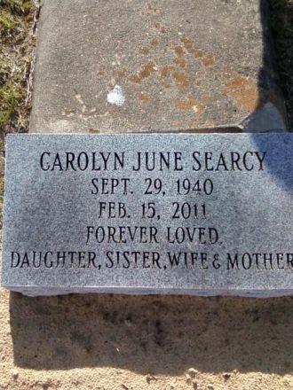 Carolyn J Searcy gravesite
